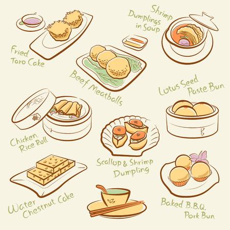 dumpling: Set of chinese food