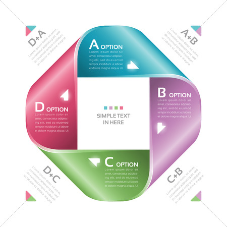Mobius Streifen Papier Vektor Option Infografik EPS-10 RGB Alle Effekte sind mit einfachen Farbverläufen und Transparenz erstellt wird, wird kein Gitter Datei mit globalen Farben geschichtet
