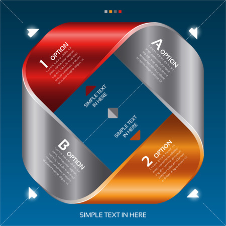 Mobius strip of paper  Vector option infographic  EPS 10  RGB  All effects are created with simple gradients and transparency, no mesh   File is layered with global colors   Vector