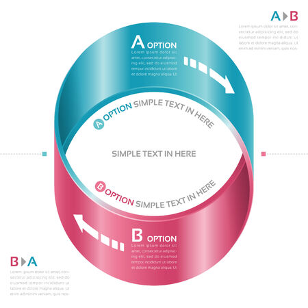 mobius strip: Mobius strip of paper. Vector option infographic.