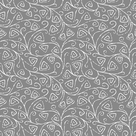 Seamless  pattern with hand drawn irregular lines. Illustration
