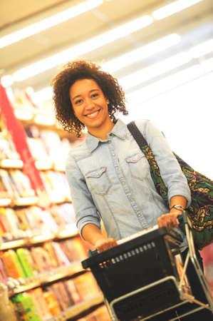 Women, Shopping, Supermarket, Shopping Cart, Retail, Grocery Product photo