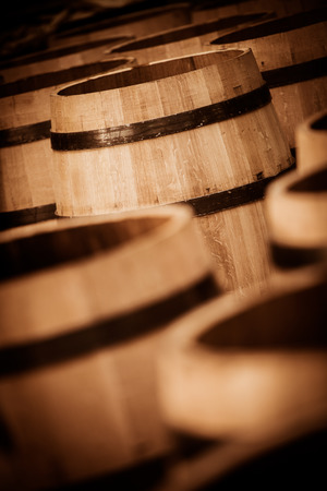 only one mid adult man: Barrel Making in Bordeaux Wineyard