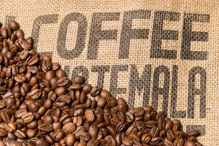 caffeine: Brown coffee caffeine beans background Stock Photo