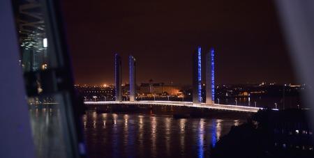 jacques: France, Aquitaine, Gironde, Bordeaux Bastide, La Bastide, Pont Jacques Chaban-Delmas Stock Photo