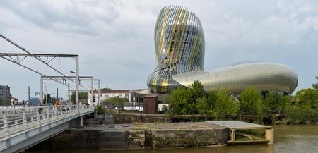 Bordeaux, France - June 06, 2016. La cite du vin is the Wine museum of Bordeaux near to Garonne river. Bordeaux, Aquitaine. France.