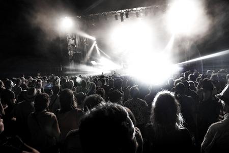 light show: Rock concert. Light show,Public, France, Europe