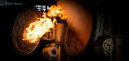 Hot steel pouring in steel plant, iron, aluminium Stock Photo - 72261041