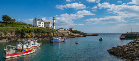 Small port Doelan near Clohars-Carnoet in brittany, France Stock Photo