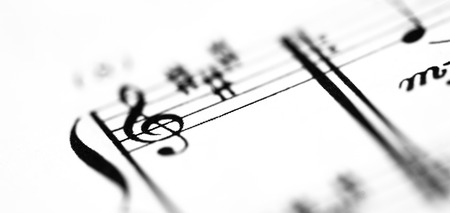 musical score: A music score sheet with the focus on the G-clef