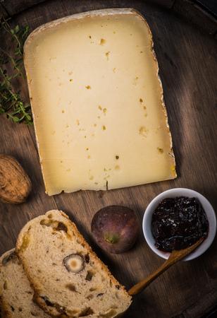 Ossau-Iraty, French cheese, Pyrenees, France Stock Photo
