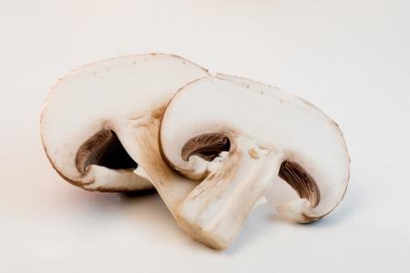 Fresh mushrooms isolated on white background, 2017