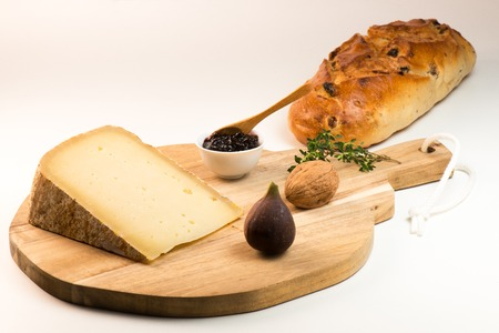 Ossau-Iraty, French cheese, Pyrenees, France Stock Photo