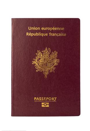 Frans paspoort op een witte achtergrond, Frankrijk