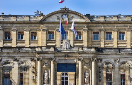 Center historical Bordeaux France Europe Town hall