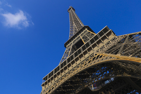 Eiffel Tower on blue sky Paris, France