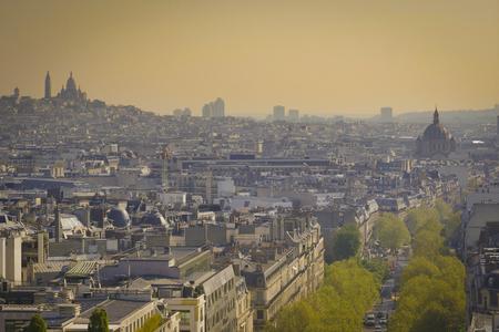 Paris, Basilica Sacré-Cœur and Montmarte, Paris, France Stock Photo