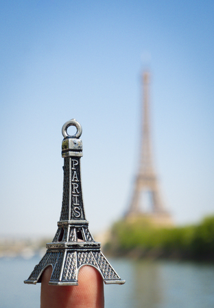 Souvenirs of the Eiffel Tower in Paris, France Stock Photo - 122079315