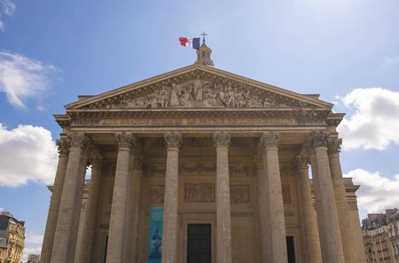 The Pantheon building in the Latin Quarter in Paris France, famous monument during Bastille Day