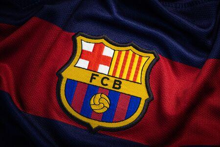 FRANCE - JANUARY 21, 2020. - FC Barcelona, Spanish Football Club, Logo On  Jersey Royalty-Vrije Foto, Plaatjes, Beelden En Stock Fotografie. Image  139963726.