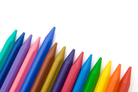 lined up: 14-color crayon lined up