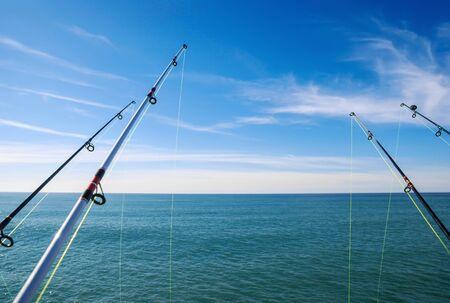 sportfishing: fishing on deep ocean Stock Photo