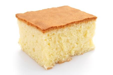 homemade sponge cake on white 免版税图像