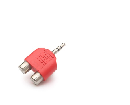 input & output plug with clipping path Stock Photo