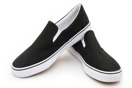 pair of black sneakers on white Stock Photo - 17610831