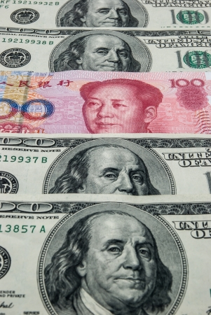 RMB in mid of USD photo