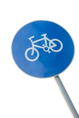bicycle lane: Bicycle lane sign on a pole