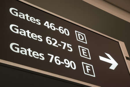departure gates sign photo