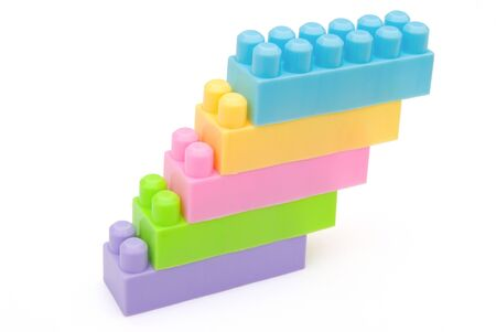 different color toy bricks stack together Stock Photo - 17613368