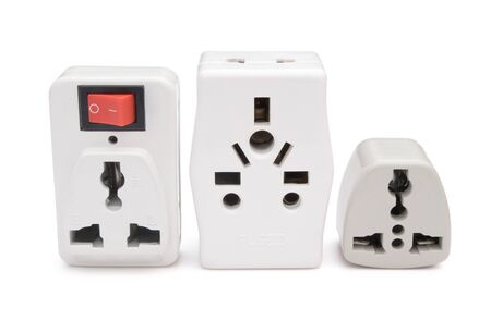 adapters: different universal adapters with clipping path