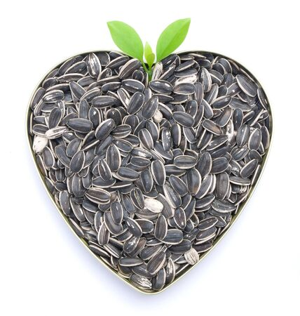 zonnebloem kiemen: hartvormige smakelijke zonnebloempitten