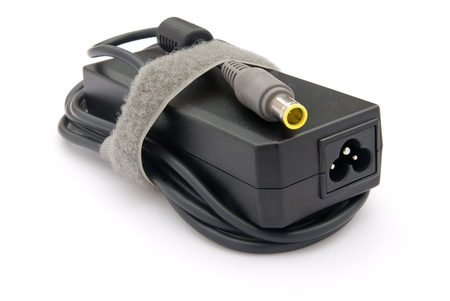 adapter: Laptop AC adapter on white