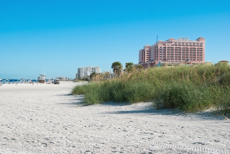 tampa bay: sunshine beach in Clearwater of Tampa Florida America Stock Photo