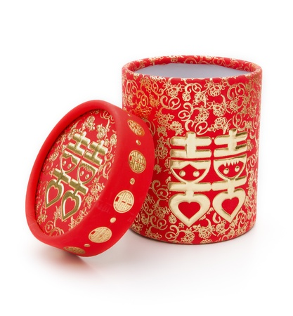 chinese traditional double happiness gift box,no trade mark photo