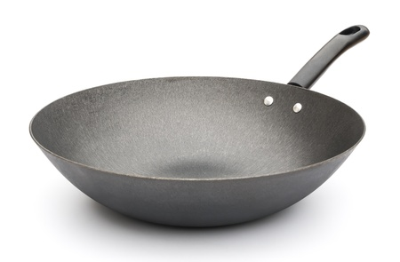 side view of a saucepan on white Stock Photo - 18550352