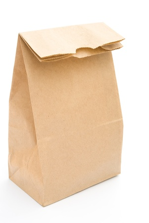 paper bag on a white background photo