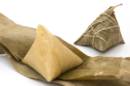 two Chinese ZongZi for Dragon Boat Festival, DuanWu festival photo