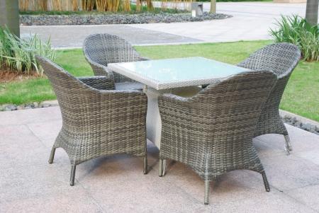 ourdoor: rattan sofa and table set in ourdoor