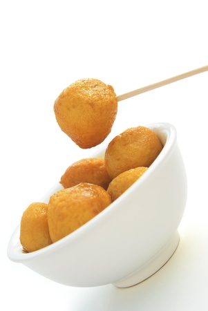 curry flavor fish balls in bowl