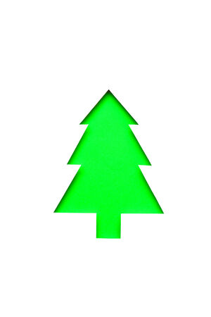 hand cut green christmas tree photo