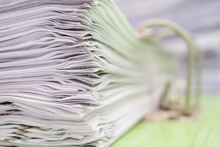 close up of a file holder with documents Imagens