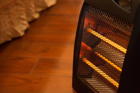 electric heater in bed room Banque d'images