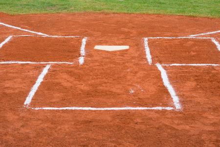 campo de beisbol: base de un campo de béisbol Foto de archivo