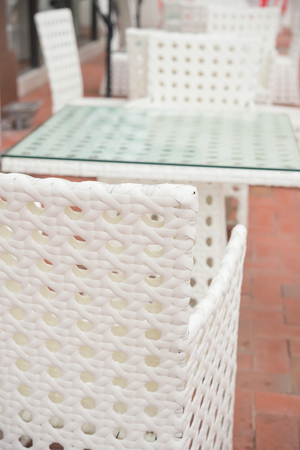 cane chair: white rattan sofa and table sets in outdoor vertical composition