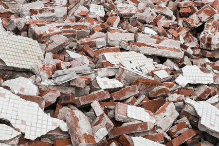 debris: background of brick rubble debris