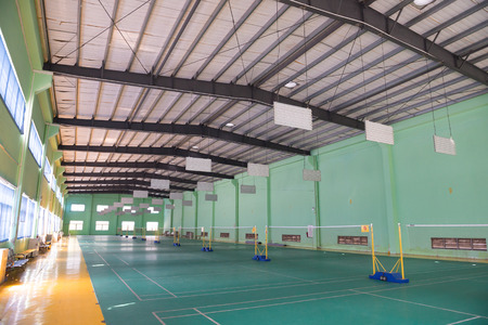 gym ball: badminton courts indoor